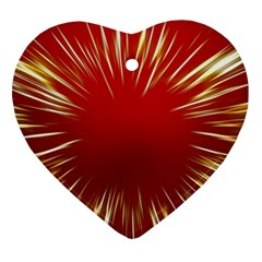 Color Gold Yellow Background Heart Ornament (2 Sides)