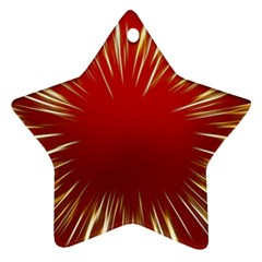 Color Gold Yellow Background Star Ornament (two Sides)