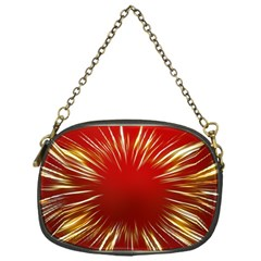 Color Gold Yellow Background Chain Purses (one Side)