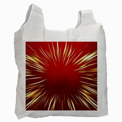 Color Gold Yellow Background Recycle Bag (one Side)