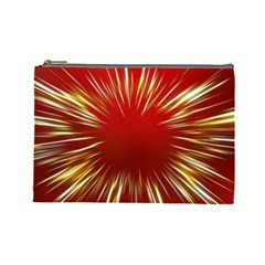 Color Gold Yellow Background Cosmetic Bag (Large)