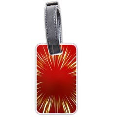 Color Gold Yellow Background Luggage Tags (one Side)