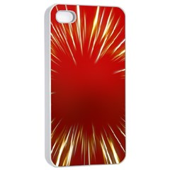 Color Gold Yellow Background Apple Iphone 4/4s Seamless Case (white)