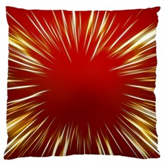 Color Gold Yellow Background Large Cushion Case (one Side)