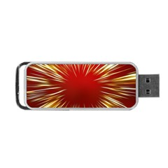Color Gold Yellow Background Portable Usb Flash (one Side)