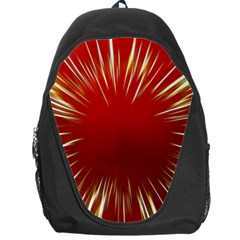Color Gold Yellow Background Backpack Bag