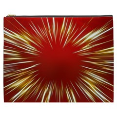 Color Gold Yellow Background Cosmetic Bag (xxxl)