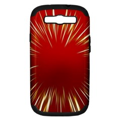 Color Gold Yellow Background Samsung Galaxy S Iii Hardshell Case (pc+silicone)