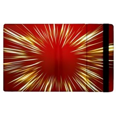Color Gold Yellow Background Apple Ipad 3/4 Flip Case