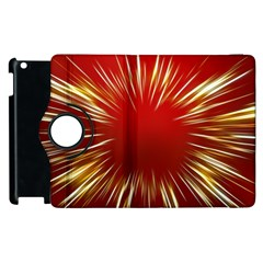 Color Gold Yellow Background Apple Ipad 3/4 Flip 360 Case