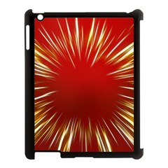 Color Gold Yellow Background Apple Ipad 3/4 Case (black)