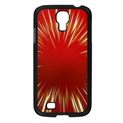 Color Gold Yellow Background Samsung Galaxy S4 I9500/ I9505 Case (black)