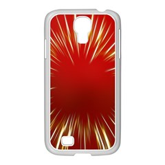 Color Gold Yellow Background Samsung Galaxy S4 I9500/ I9505 Case (white)