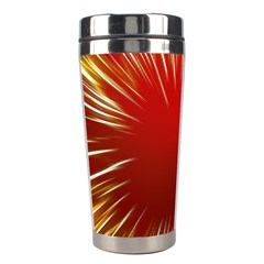Color Gold Yellow Background Stainless Steel Travel Tumblers