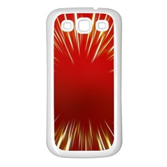 Color Gold Yellow Background Samsung Galaxy S3 Back Case (white)