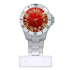 Color Gold Yellow Background Plastic Nurses Watch