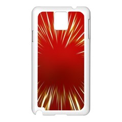 Color Gold Yellow Background Samsung Galaxy Note 3 N9005 Case (white)