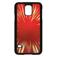 Color Gold Yellow Background Samsung Galaxy S5 Case (black)