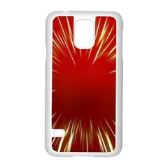 Color Gold Yellow Background Samsung Galaxy S5 Case (white)