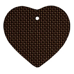 Fabric Pattern Texture Background Ornament (heart)