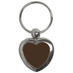 Fabric Pattern Texture Background Key Chains (Heart)