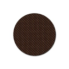 Fabric Pattern Texture Background Rubber Round Coaster (4 pack)