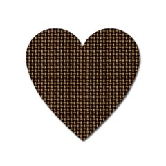 Fabric Pattern Texture Background Heart Magnet