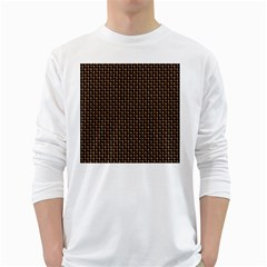 Fabric Pattern Texture Background White Long Sleeve T Shirts