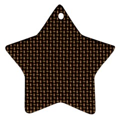 Fabric Pattern Texture Background Star Ornament (Two Sides)