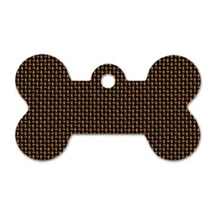 Fabric Pattern Texture Background Dog Tag Bone (one Side)