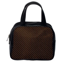 Fabric Pattern Texture Background Classic Handbags (one Side)