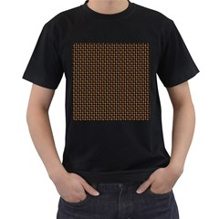 Fabric Pattern Texture Background Men s T Shirt (black)