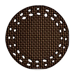 Fabric Pattern Texture Background Round Filigree Ornament (2side)