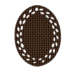Fabric Pattern Texture Background Oval Filigree Ornament (2 Side)
