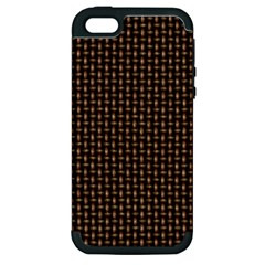 Fabric Pattern Texture Background Apple Iphone 5 Hardshell Case (pc+silicone)