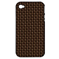 Fabric Pattern Texture Background Apple Iphone 4/4s Hardshell Case (pc+silicone)