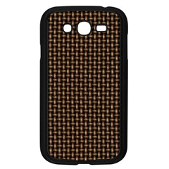 Fabric Pattern Texture Background Samsung Galaxy Grand Duos I9082 Case (black)