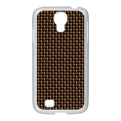 Fabric Pattern Texture Background Samsung Galaxy S4 I9500/ I9505 Case (white)
