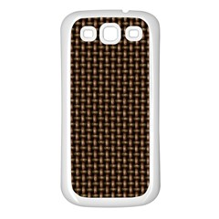 Fabric Pattern Texture Background Samsung Galaxy S3 Back Case (white)