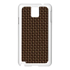 Fabric Pattern Texture Background Samsung Galaxy Note 3 N9005 Case (white)