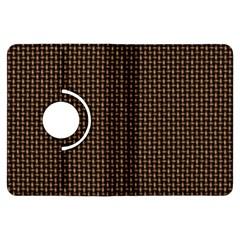 Fabric Pattern Texture Background Kindle Fire Hdx Flip 360 Case