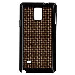 Fabric Pattern Texture Background Samsung Galaxy Note 4 Case (Black)