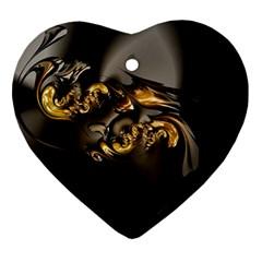 Fractal Mathematics Abstract Ornament (heart)