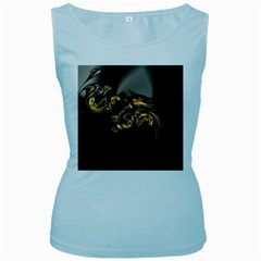 Fractal Mathematics Abstract Women s Baby Blue Tank Top