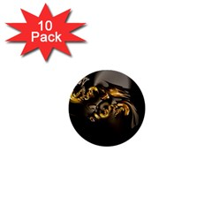 Fractal Mathematics Abstract 1  Mini Buttons (10 Pack)