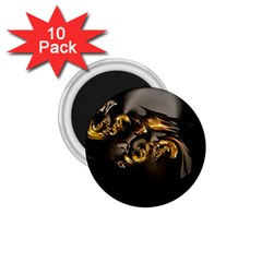Fractal Mathematics Abstract 1 75  Magnets (10 Pack)