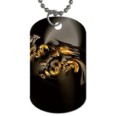 Fractal Mathematics Abstract Dog Tag (one Side)
