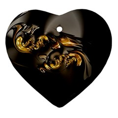 Fractal Mathematics Abstract Heart Ornament (2 Sides)
