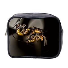 Fractal Mathematics Abstract Mini Toiletries Bag 2 Side