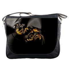 Fractal Mathematics Abstract Messenger Bags